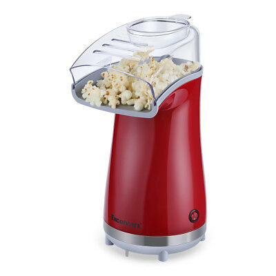 Machines à pop corn Air-Pop Popcorn Maker électrique 1100W sans Huile ROUGE NEUF