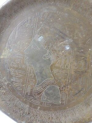 Handmade Old Art Copper/Brass wall Plate/Plaque of Ancient Queen Cleopatra Mask