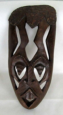 """African Tribal Hand Made Wood Carving Wall Art 13""""x5 1/4"""""""