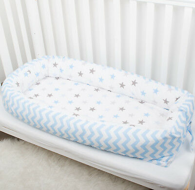 Stars Newborn baby or Toddler nest bed babynest co sleeper pillow cot bumpers