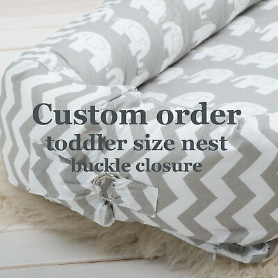 Custom babynest sleeper toddler or newborn baby nest portable crib lounger pod