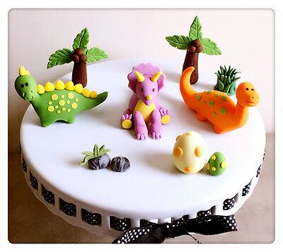 Surprising Large Dinosaur Handmade Edible Cake Topper Birthday Baby Shower Funny Birthday Cards Online Alyptdamsfinfo