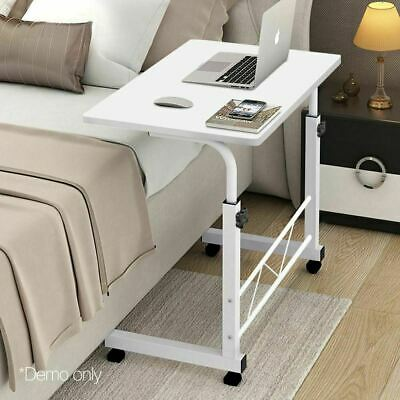 Portable Adjustable Wooden Mobile Laptop Notebook Table Stand Tray Desk White