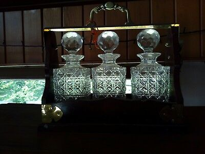 Silverplated Antique 3 Decanter Tantalus