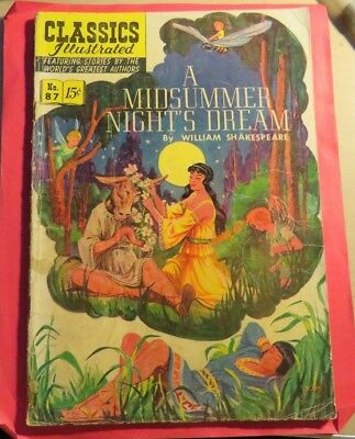 Classic Illustrated #87 Midsummer Nights Golden Age First Edition (1951)  C333