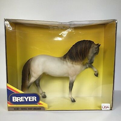 Vintage Breyer Horse Medieval Knight Andalusian 880 Gray Brown 1990