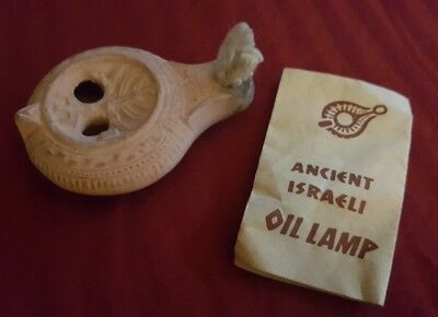 Ancient Israeli Oil Lamp by Antiquities Of The Holy Land, Inc. Replica Souvenir