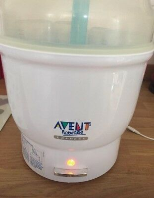 Avent Express Electric Steam Steriliser And Bottles. Boxed