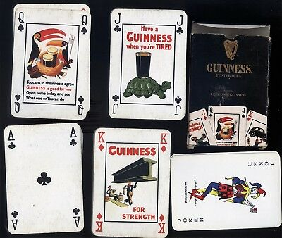 Guinness Poster Deck Playing Cards Full Deck 2 Jokers & 1 Blank Card