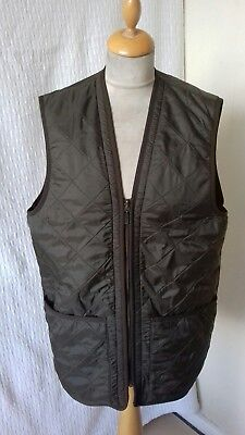 Barbour quilted polarquilt green gilet WAISTCOAT size M chest 42