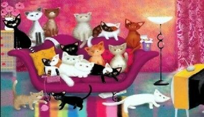 Cats On A Couch Magnet #2