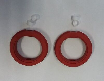 """Lot of 2 NEW 2"""" BUTTERFLY VALVE SEAT GASKET ORANGE SILICONE h2"""