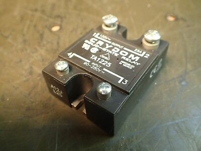Crydom TA1225 Solid State Relay, SSR: Input 90-280V~, Output 120V 25A, Used Good