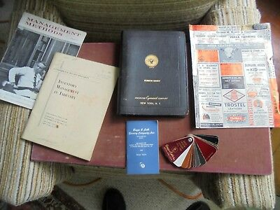 Vintage Leather Tan Manuals, Samples, Management Booklets, Beggs & Cobbs Tanners
