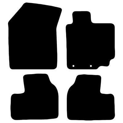 Tailored Black Car Floor Mats Carpets 4pc Set with Clips for Suzuki Swift 2012>