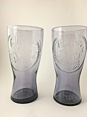 Mcdonalds Purple 1955 Speedee Drinking Glasses Retro (Set Of 2)