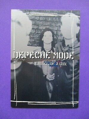 Depeche Mode Barrel Of A Gun ORIGINAL PROMO 2 sided UK POSTCARD 1997 Mute ultra