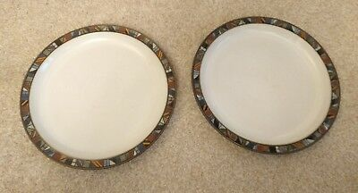 "⭐RARE & Discontinued ⭐ Denby Marrakesh 2 x Large Plates 10 1/2"" (mains dinner)"
