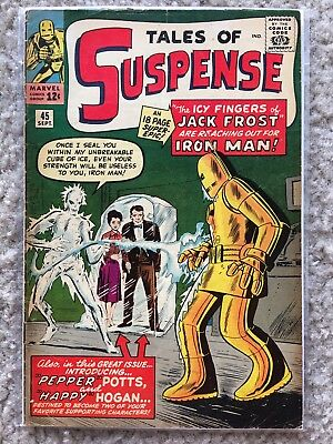 Tales of Suspense 45 (1963) by Marvel (1st Pepper Potts) in (VG) Condition!!