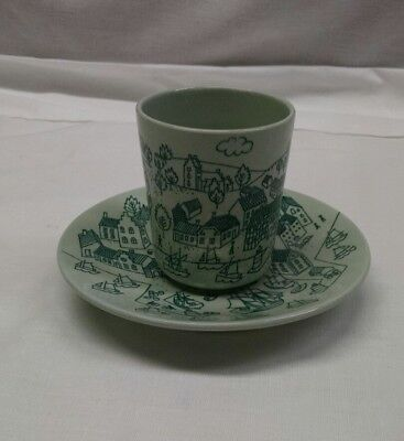 """Nymolle Art Faience """"Hoyrup"""" Plate Matching Cup/Limited Edition 4006 Denmark"""