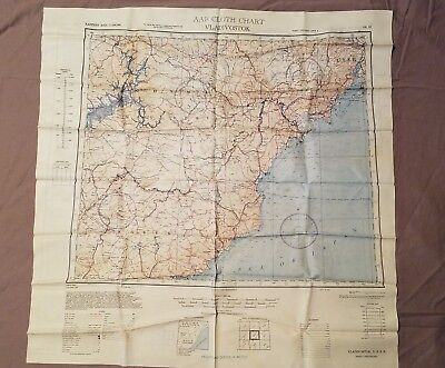 WWII Silk Escape AAF Map 1st & 2nd Edition 1944 Double Sided USSR & Keijo Japan