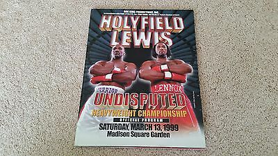 Evander Holyfield v Lennox Lewis Heavyweight Fight Programme March 13 1999 boxin