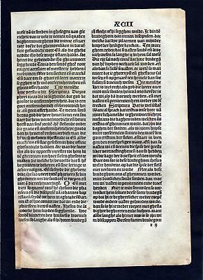1499 Blatt XCII Inkunabel Vita Christi Zwolle incunable Dutch Holland