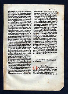 1499 Blatt XVII Inkunabel Vita Christi Zwolle incunable Dutch Holland