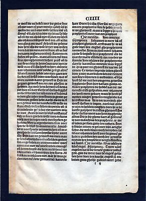 1499 Blatt CIIII Inkunabel Vita Christi Zwolle incunable Dutch Holland