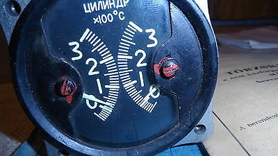 russian 2 in 1 cylinder head temperature gauge for yak,sukhoi,pzl,antonov,zlin,