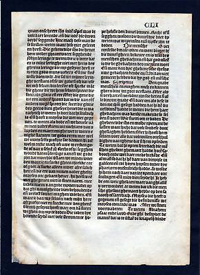 1499 Blatt CLI Inkunabel Vita Christi Zwolle incunable Dutch Holland