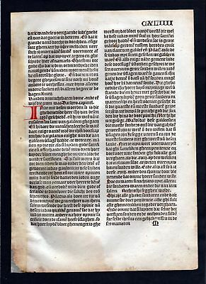 1499 Blatt CXLIIII Inkunabel Vita Christi Zwolle incunable Dutch Holland