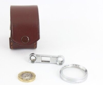 BPM Prismeter / close up lens No.2 for Leica cameras, with case,