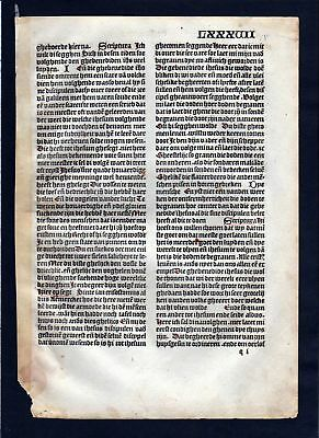1499 Blatt LXXXVII Inkunabel Vita Christi Zwolle incunable Dutch Holland