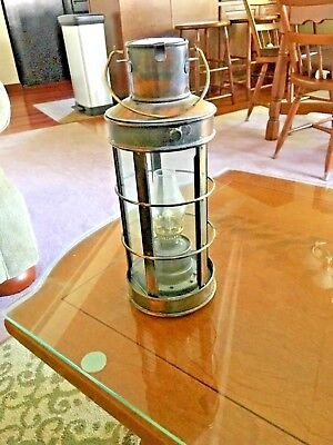 Copper Oil Lantern, Works Great In Perfect Condition