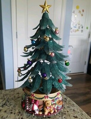 PARTYLITE Glowing Magnetic Metal Musical Christmas Tree, Retired 2003 - PARTYLITE GLOWING MAGNETIC Metal Musical Christmas Tree, Retired