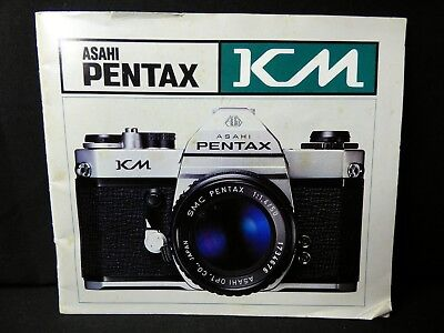 PENTAX ASAHI KM SLR 35mm CAMERA OWNERS INSTRUCTION MANUAL -from 1970s