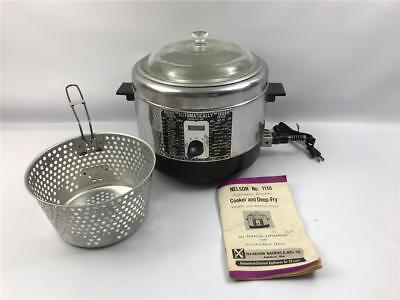 Vintage Nelson Bel-Air Automatic Electric Cooker and Deep Fryer Model 1110