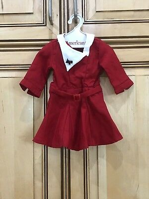 """American Girl Doll Retired 18"""" Kit Christmas Dress with Scottie ONLY"""