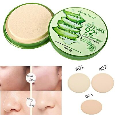 15g Aloe Kompaktpuder Puder Make up GesichtPuder Pressed Compact Powder Cjcj*`
