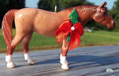 CustomMade Breyer Stablemate American Quarter Horse Red Roan Christmas Ornament