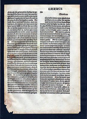 1499 Blatt LXXXVI Inkunabel Vita Christi Zwolle incunable Dutch Holland