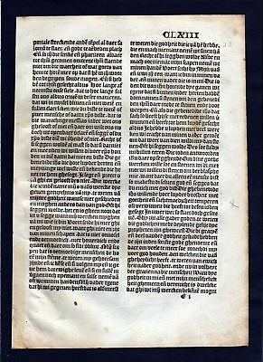 1499 Blatt CLXIII Inkunabel Vita Christi Zwolle incunable Dutch Holland