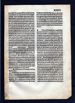 1499 Blatt XXII Inkunabel Vita Christi Zwolle incunable Dutch Holland