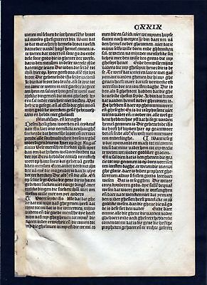 1499 Blatt CXXIX Inkunabel Vita Christi Zwolle incunable Dutch Holland