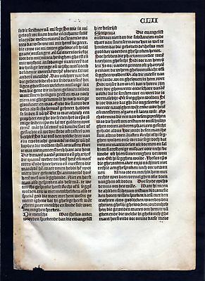 1499 Blatt CLII Inkunabel Vita Christi Zwolle incunable Dutch Holland