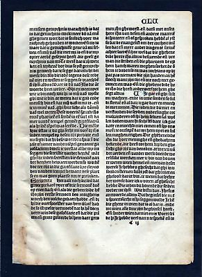 1499 Blatt CLV Inkunabel Vita Christi Zwolle incunable Dutch Holland