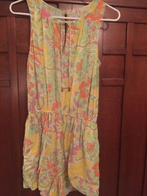 918eb8cc90e LILLY PULITZER FOR Target Challis Romper Happy Place size Medium ...