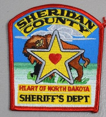 Sheridan County Sheriff's Department Embroidered Uniform Patch 31/2 x 31/4in