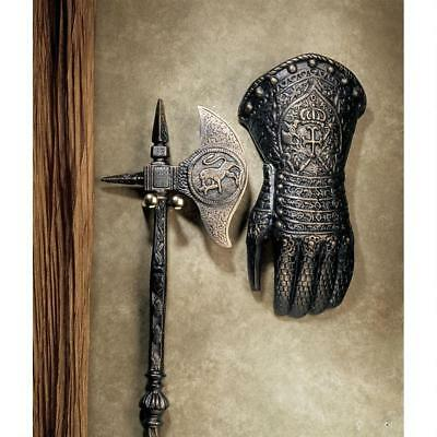 French Antique Replica Cast Iron Left Gauntlet Armor Wall Sculpture Medieval